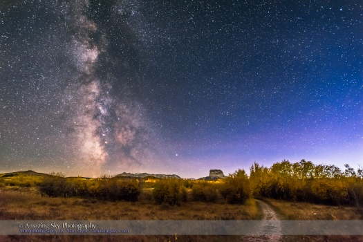 Milky Way in Twilight at Police Outpost Park