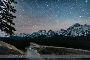 Stars over Athabasca River