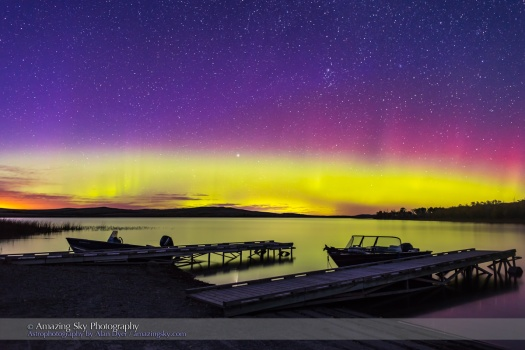 Twilight Aurora at Police Outpost