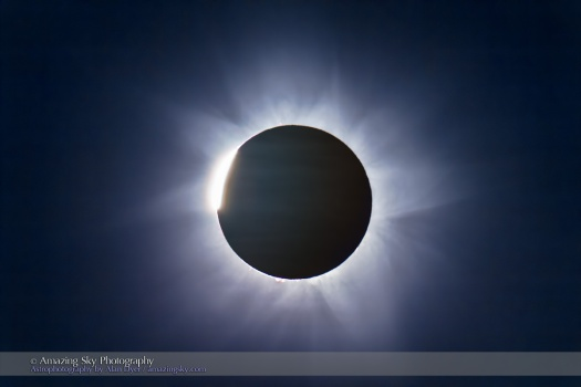 Total Solar Eclipse C3 Diamond Ring and Totality (2012 Australia