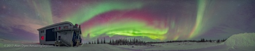 Aurora Panorama from Northern Studies Centre #2 (January 29, 201