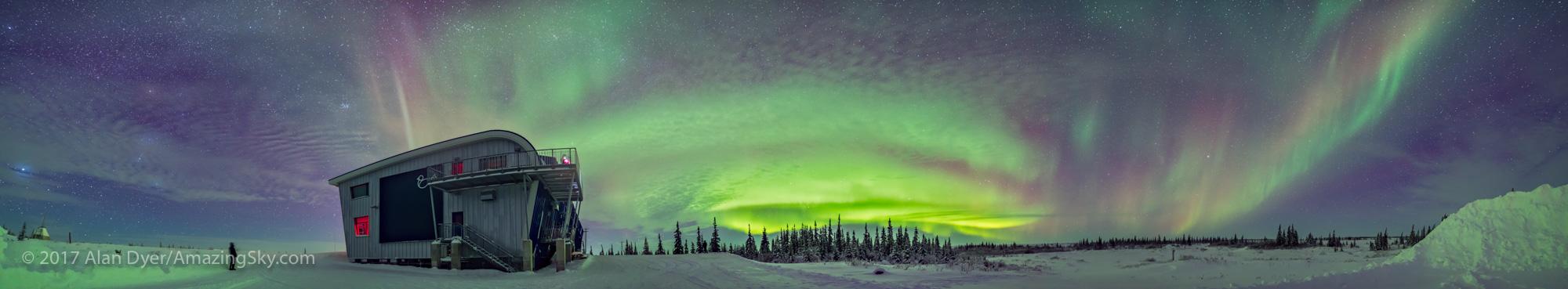 Aurora Panorama from Northern Studies Centre #3 (January 29, 201