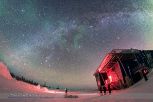 Winter Star and Milky Way from Churchill Manitoba