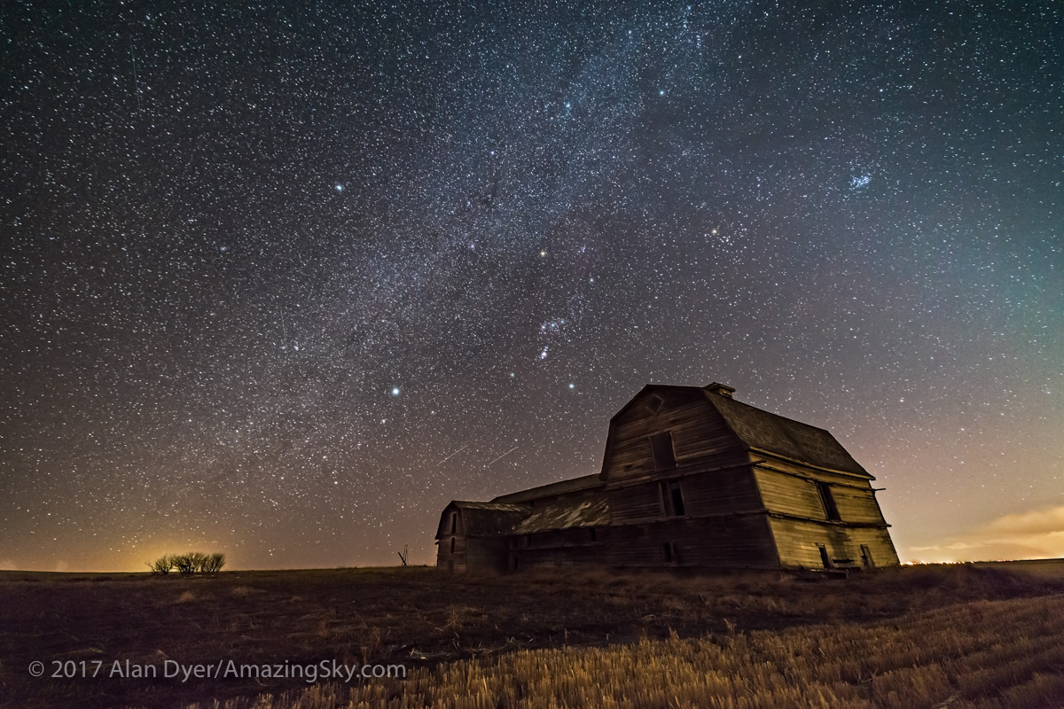 Orion over the Old Barn
