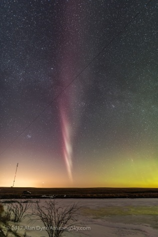 Isolated Auroral Arc West