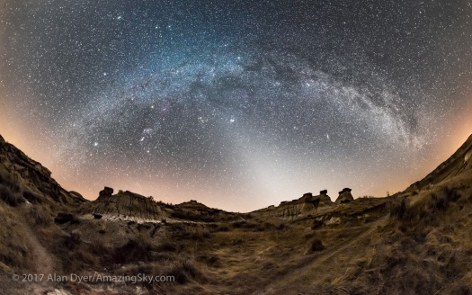 Winter Milky Way Arch and Zodiacal Light