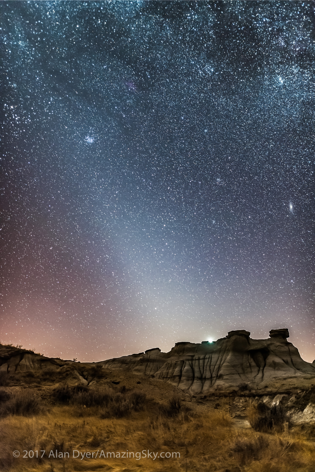 Evening Zodiacal Light at Dinosaur Park