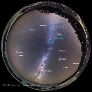 Southern Autumn Sky Panorama (with Labels)