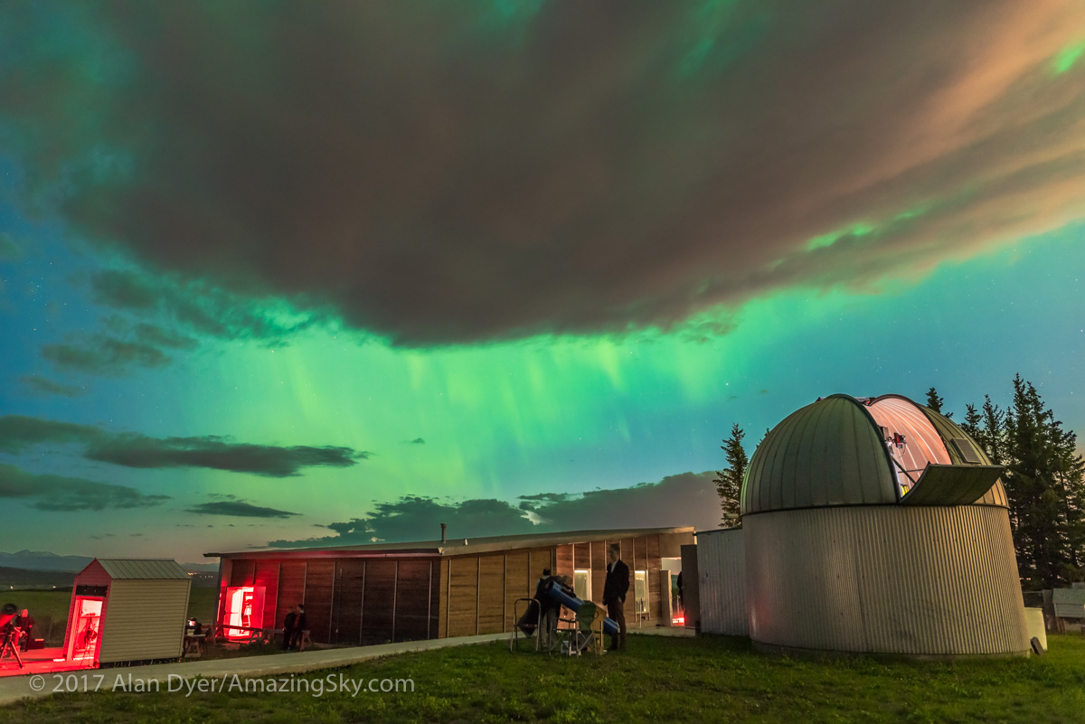 Aurora over the Rothney Observatory