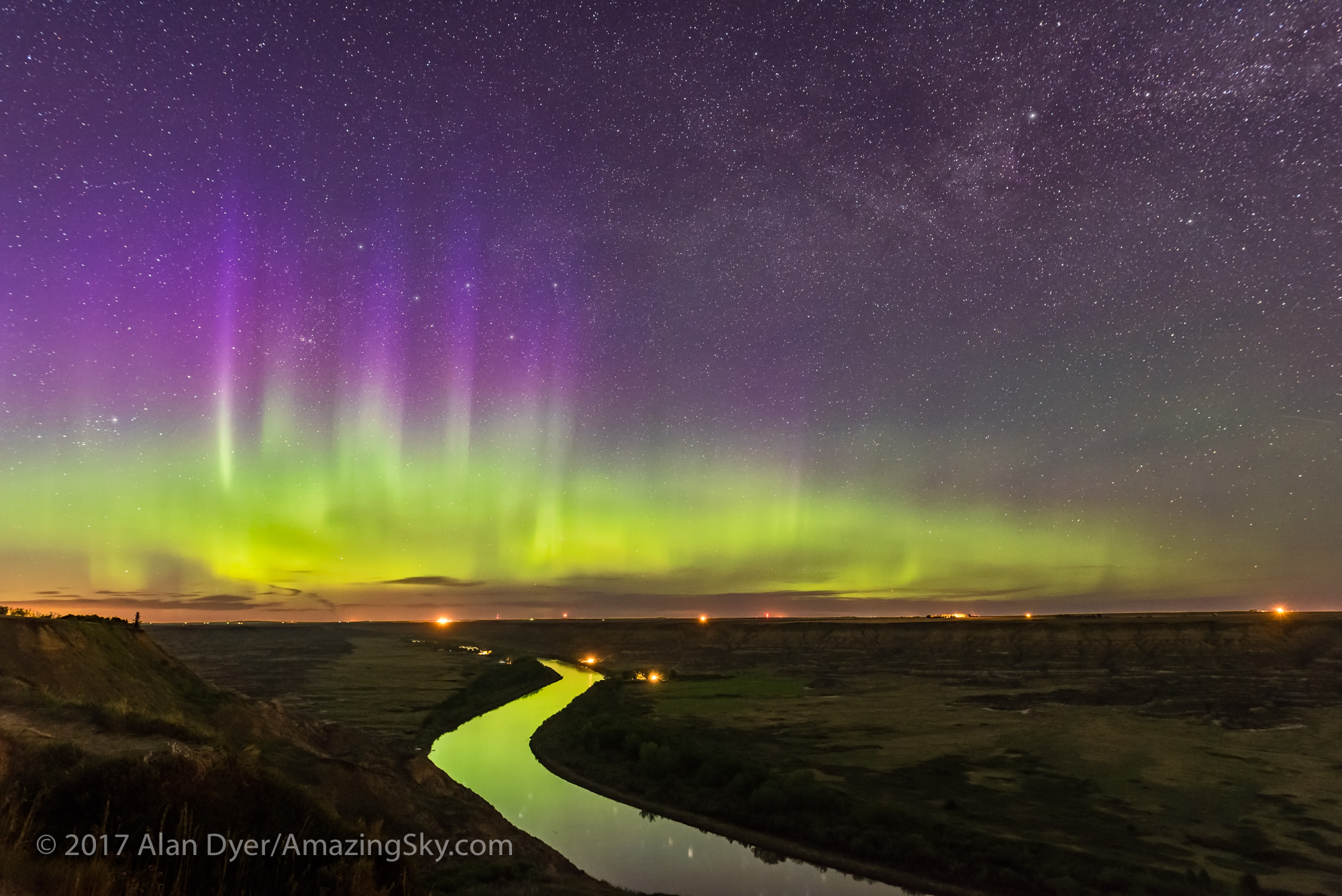 Aurora over Red Deer River
