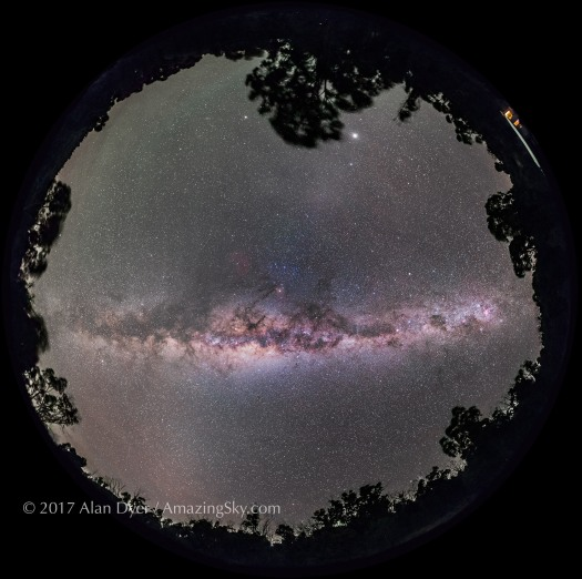 Panorama of the Milky Way Overhead
