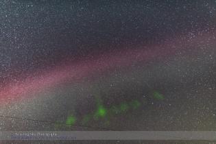 Isolated Auroral Arc Overhead