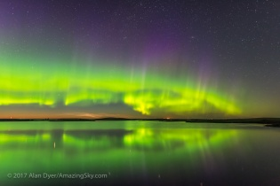 Aurora and Noctilucent Clouds over Crawling Lake v1