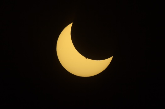 Partial Solar Eclipse and Sunspot #2