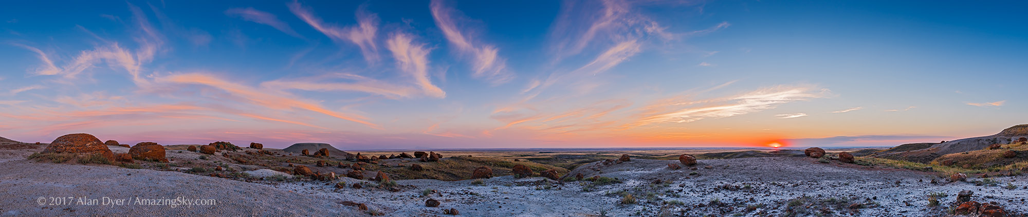 Big Sky Sunset at Red Rock Coulee