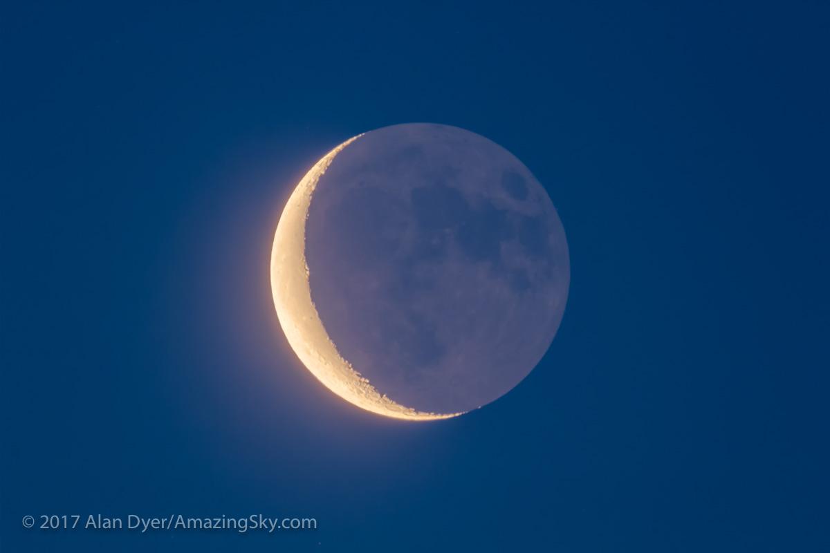 Waning Moon and Earthshine (July 20, 2017)