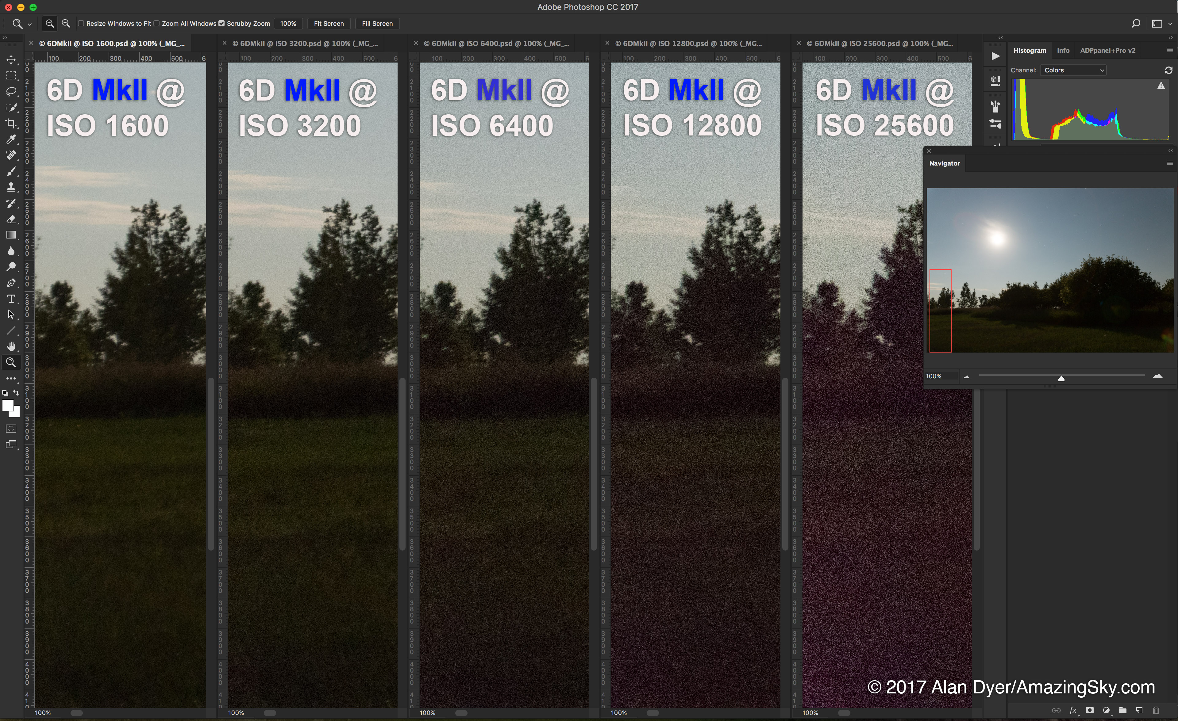 6D MkII Noise at 5 ISOs