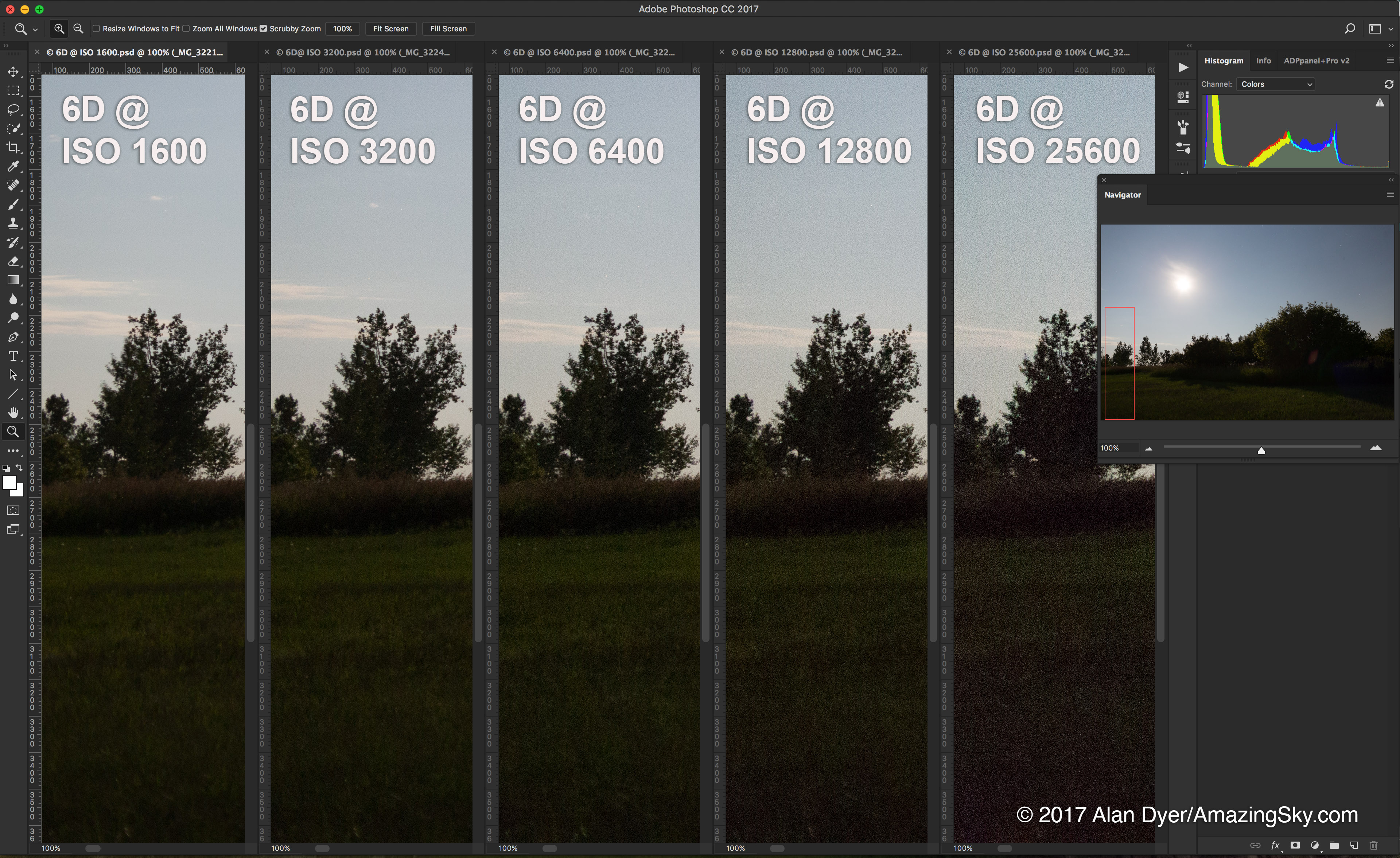 6D Noise at 5 ISOs