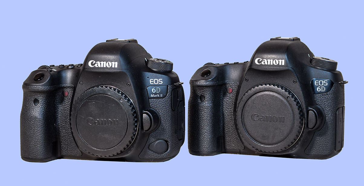 Canon 6DMkII vs 6D Front