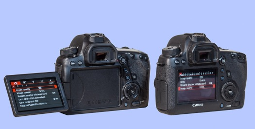 Canon 6DMkII vs 6D Rear