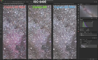 3 Canons at ISO 6400