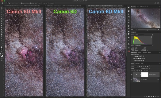 3 Canons Stacked & Processed