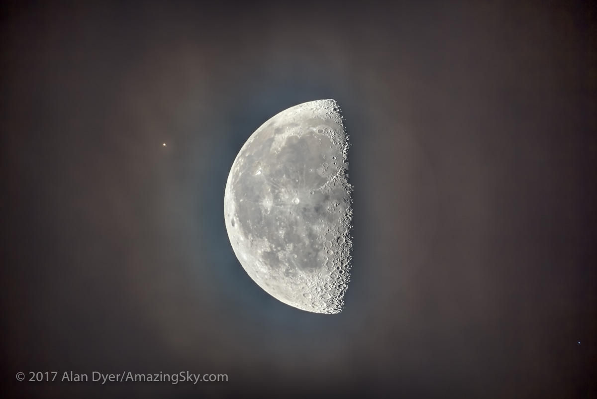 Aldebaran About to be Occulted by the Moon