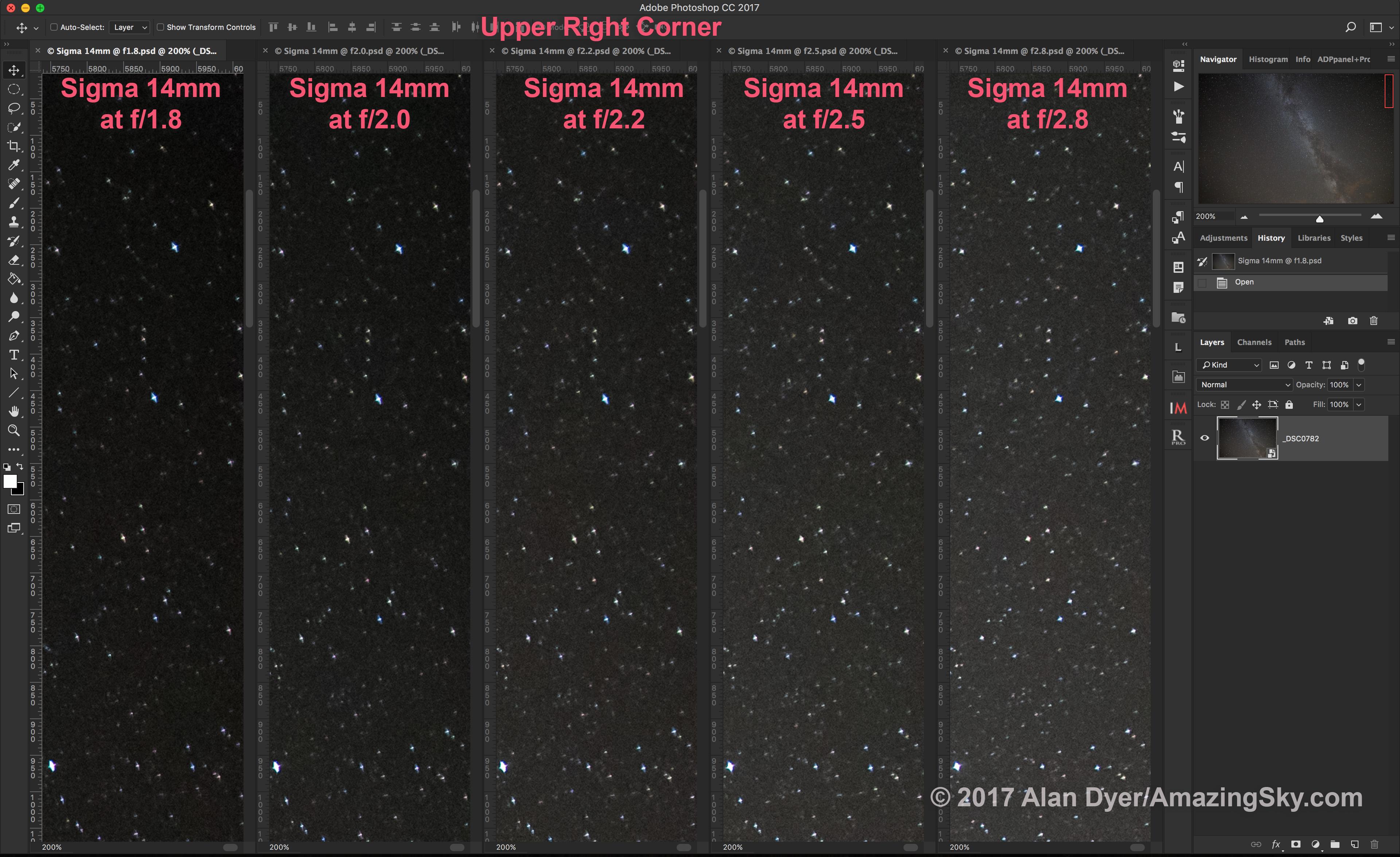 Sigma 14mm Upper R Corner