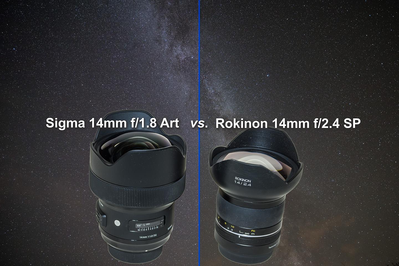Sigma and Rokinon 14mm on Stars