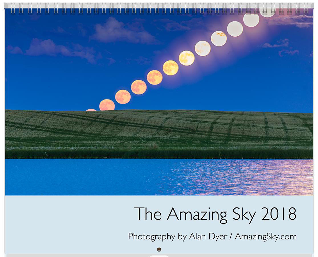 2018 Sky Calendar Cover