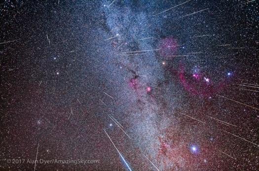 Geminid Meteor Radiant in Gemini