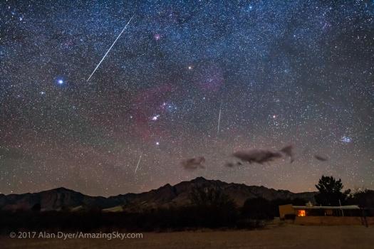 Geminid Meteors over the Chiricahuas