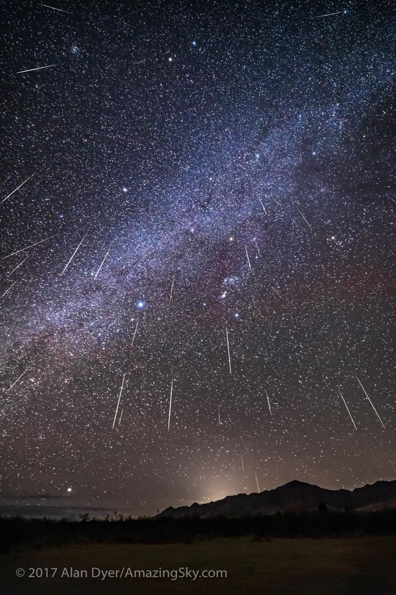 Raining Geminid Meteors