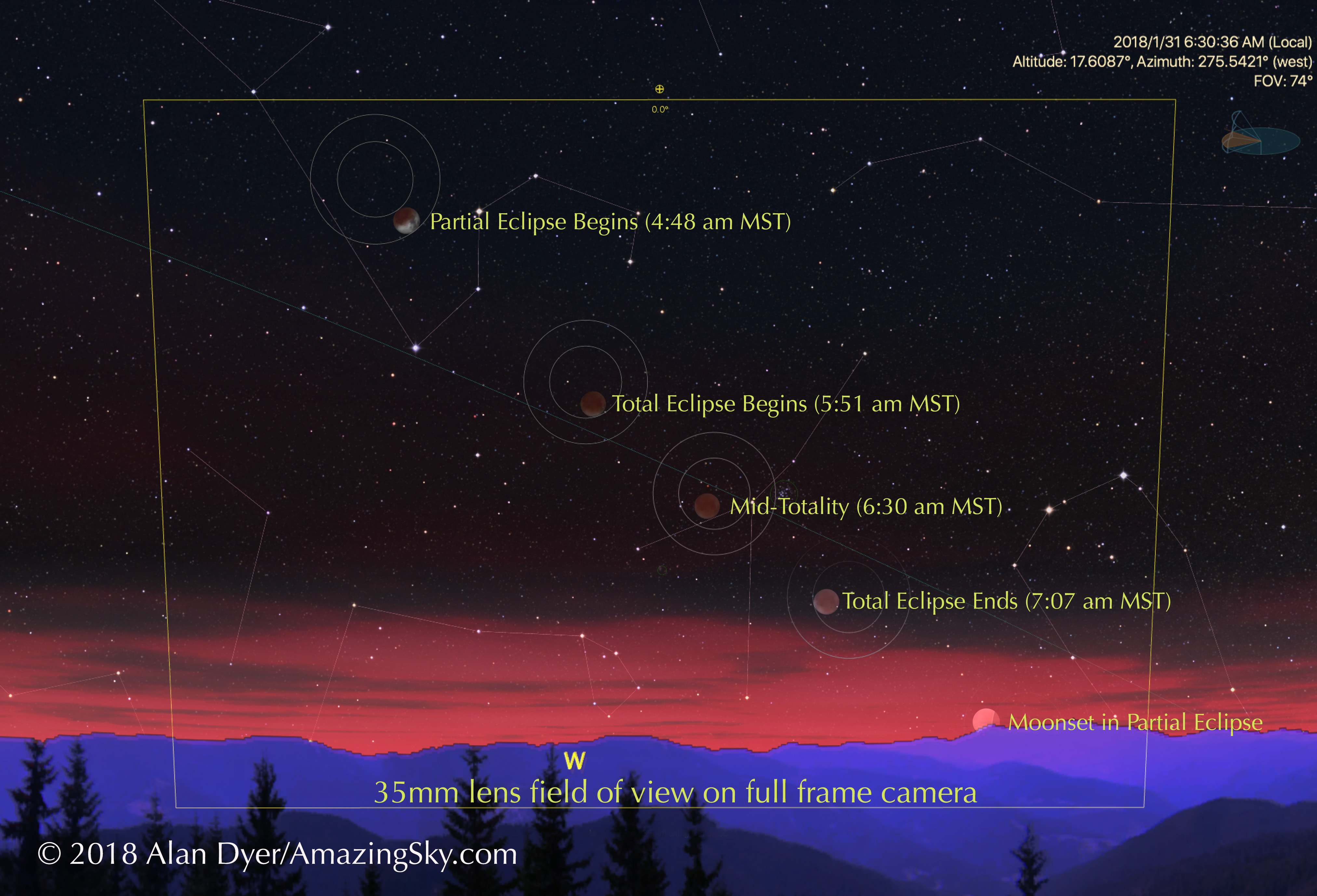 January 31 Lunar Eclipse Map.How To Photograph The Lunar Eclipse The Amazing Sky