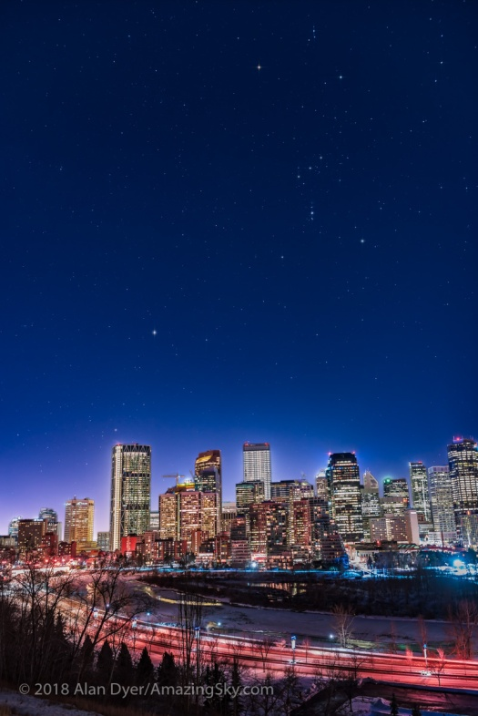 Urban Nightscape – Orion over Calgary