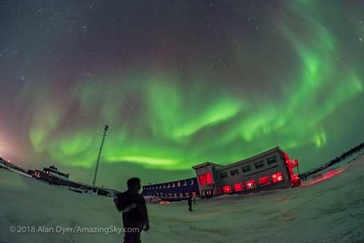 Selfie with Aurora at Churchill Northern Studies Centre (Feb 11,