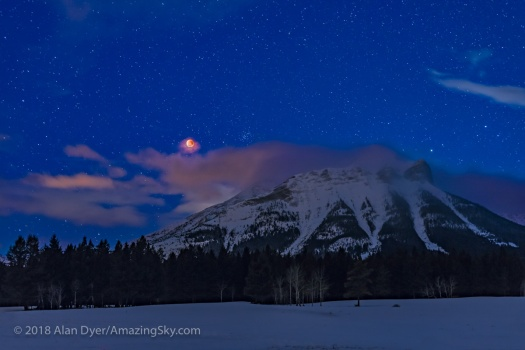 Red Moon over the Rockies