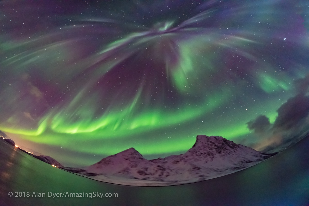 The Northern Lights From Norway. All Sky Aurora From Norway #1