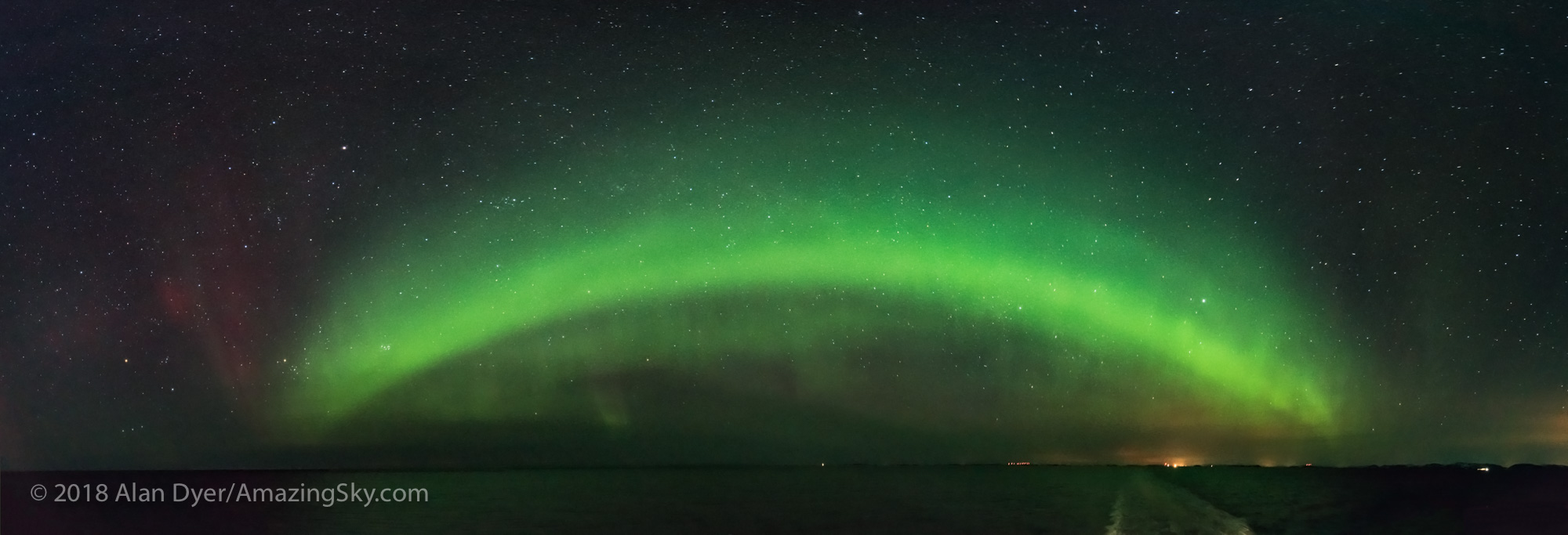Panorama of the Auroral Oval from Norway