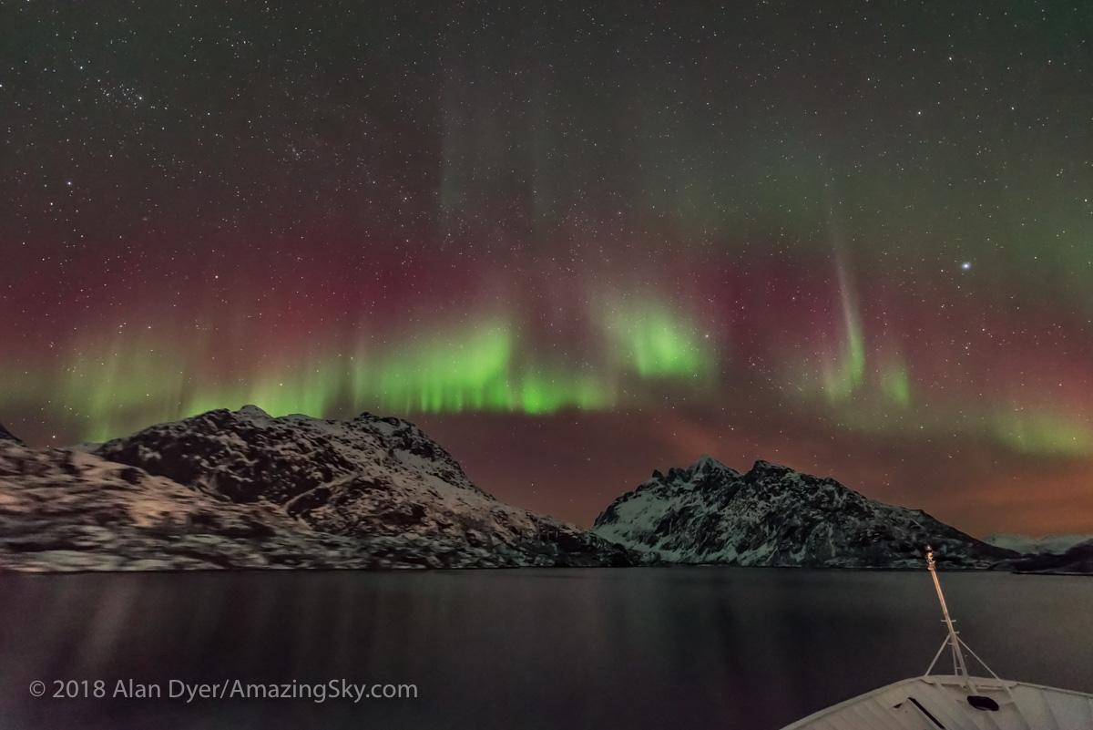 Entering Trollfjorden with Aurora