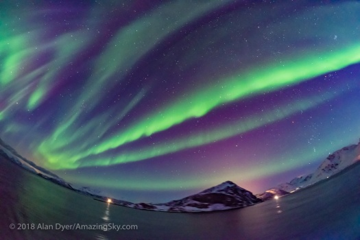 Purple Auroral Curtains from Norway
