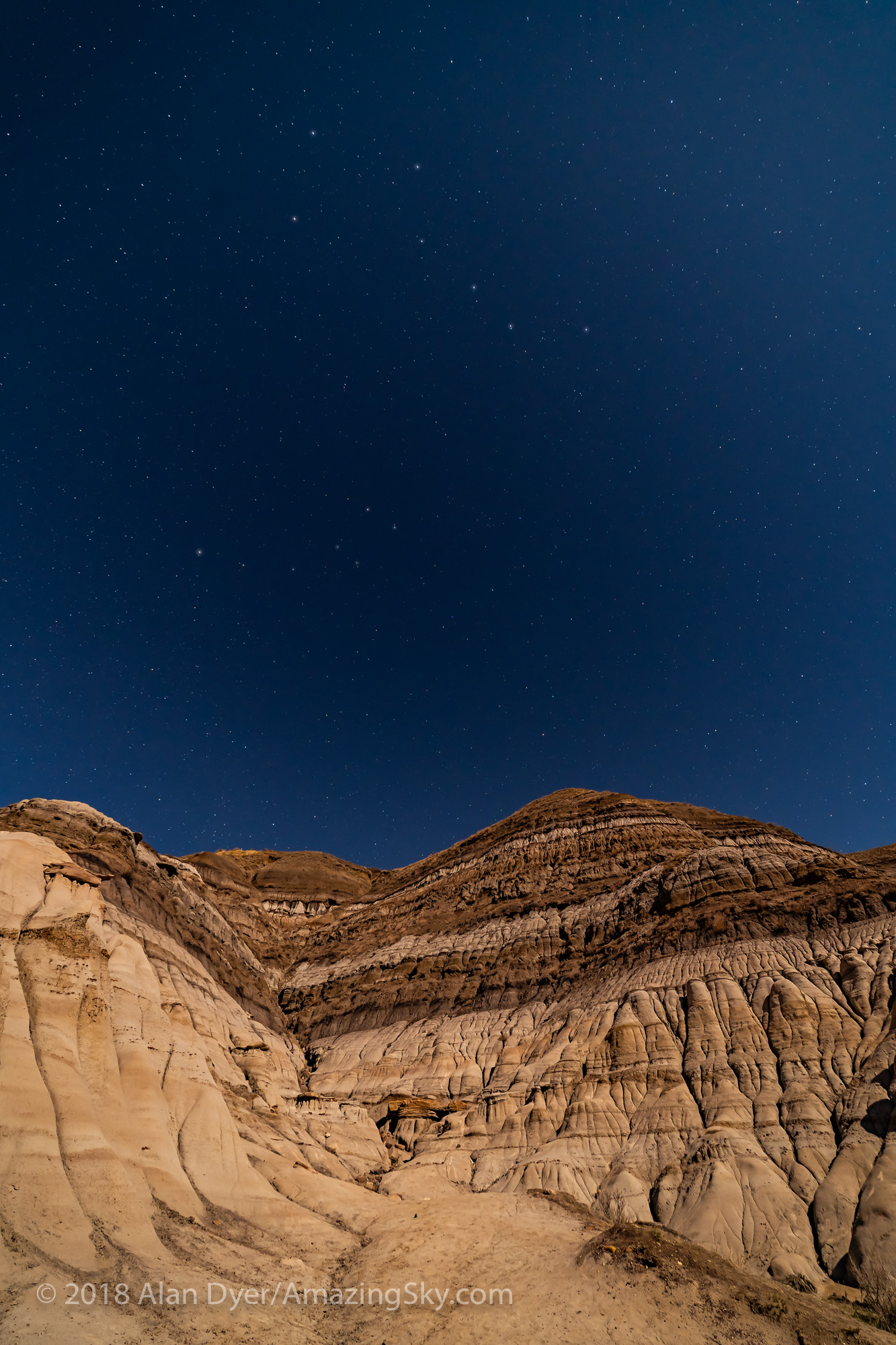Big Dipper over the Badlands