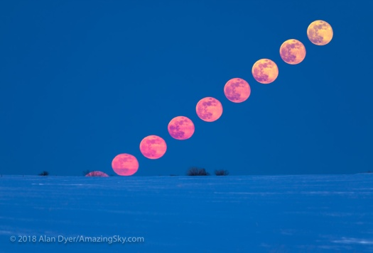 Rising Easter Full Moon (Composite)