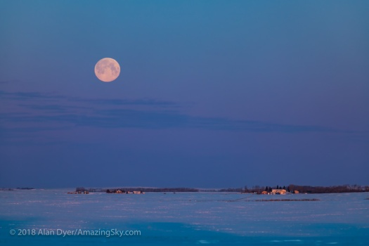 The Easter Full Moonset #1 (March 31, 2018)