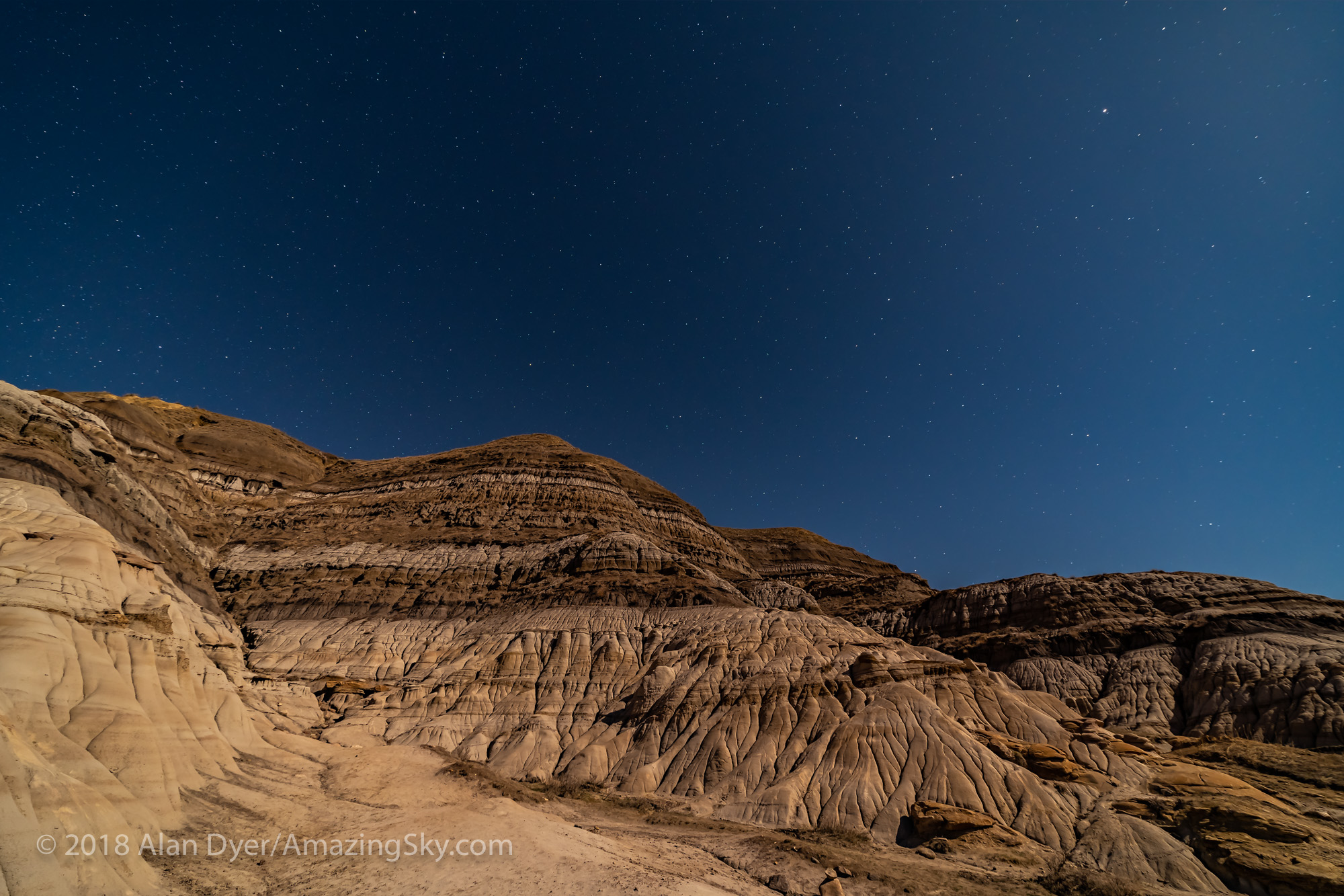 Stars over Sedimentary Layers