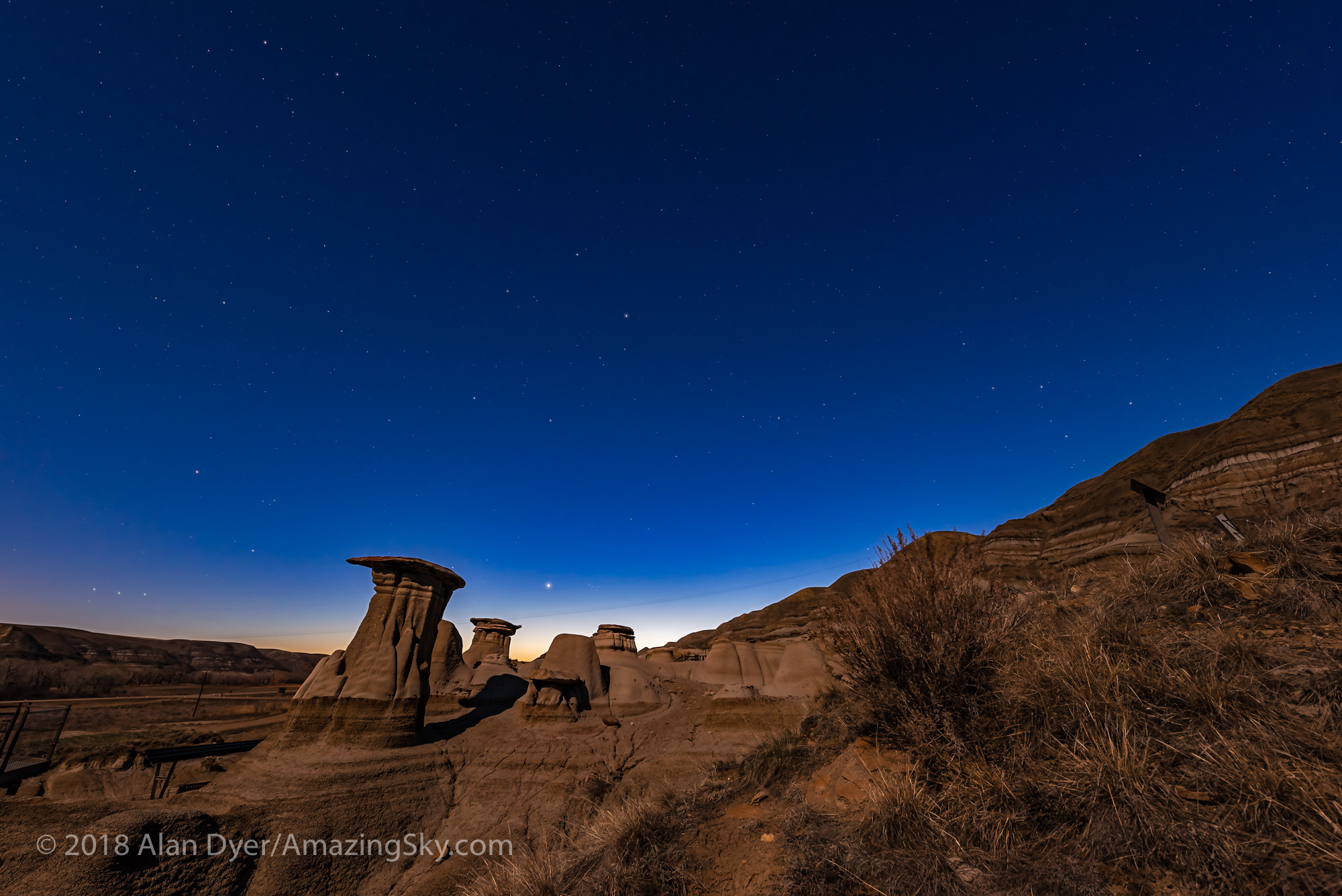 Venus in Twilight at the Hoodoos
