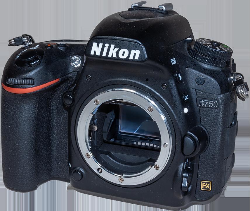 Nikon D750 Angled Front