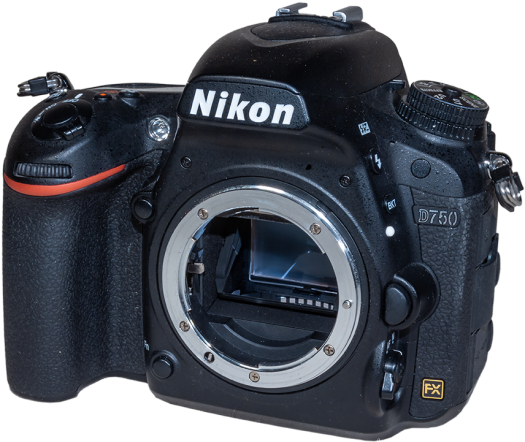 Nikon D750 Angled Front