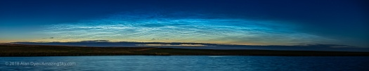 Panorama of Noctilucent Clouds (June 26, 2018)