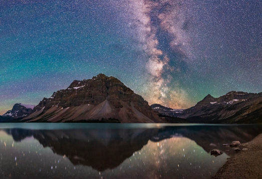 Milky Way Reflections at Bow Lake